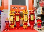 Múa lân khai trương Thương Hiệu Mỹ Phẩm Cho Nami tại Hà Nội